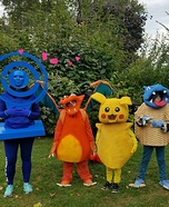 Pokemon Go Family Homemade Costume