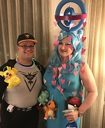 Pokemon Go trainer and PokeStop Homemade Costume
