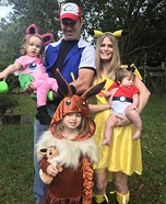Pokémon Family Homemade Costume