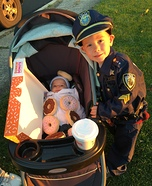 Police and his Snack Homemade Costume