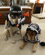 Police Dog and Prisoner Costumes for Dogs