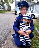 Police Officer and his Inmate Homemade Costume