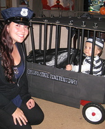 DIY matching costumes for babies and parents - Police Officer and Inmate Halloween Costume