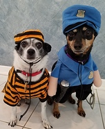 Police Officer and Inmate Dogs Costume