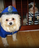 Police Officer and Jailmate Dogs Costumes
