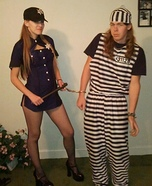 Police Officer and Prisoner Couple Costume