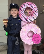 Police Officer & Donuts Homemade Costume