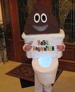 Poop Emoji with Toilet Homemade Costume