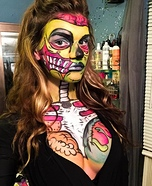 Pop Art Zombie Homemade Costume