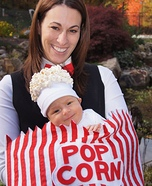 DIY matching costumes for babies and parents - Baby Popcorn Costume