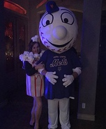 Popcorn and Mr. Met Mascot Homemade Costume