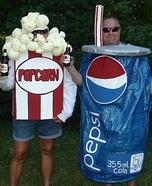 Popcorn and Pepsi Homemade Costume
