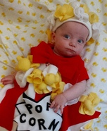 Easy DIY Popcorn Baby Costume