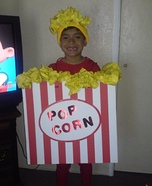 Popcorn Boy Homemade Costume