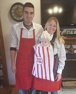 Popcorn Vendors Family Homemade Costume