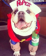 Popeye Homemade Costume for Dogs