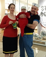 Popeye and Fam Homemade Costume