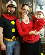 Popeye and Family Homemade Costume