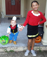 Popeye and Olive Oyl Homemade Costume