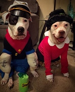 Popeye and Olive Oyl Dog Homemade Costumes