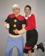 Popeye & Olive Oyl Couple Costume