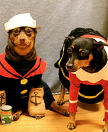 Popeye, Olive Oyl and Brutus Dog Costumes