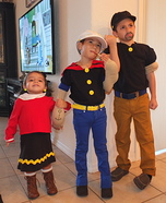 Popeye, Olive Oyl and Bluto Group Costume