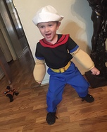 Popeye the Sailor Homemade Costume