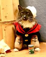 Popeye the Sailor Kitty Homemade Costume
