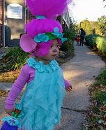 Poppy, Queen of Troll Village Homemade Costume