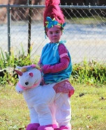 Poppy riding a Unicorn Homemade Costume