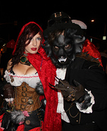 Post Apocalyptic Red Riding Hood and The Wolf Homemade Costume