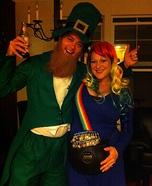 Pregnant couples costume ideas - Pot o' Gold at the End of the Rainbow