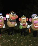 Potato Head Family Homemade Costume