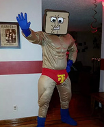 Powdered Toast Man Homemade Costume