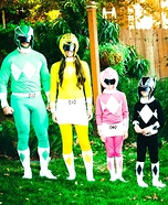 Power Rangers Family Homemade Costume