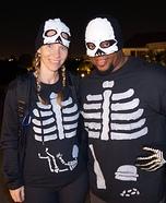 Pregnant Skeleton Couple Homemade Costume