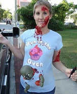 Pregnant with a Zombie Baby Homemade Costume