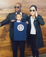 President of the United States and Secret Service Homemade Costume