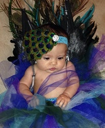 Pretty as a Peacock Homemade Costume