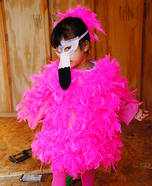 Pretty in Pink Flamingo Homemade Costume