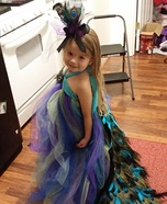 Pretty Little Peacock Homemade Costume
