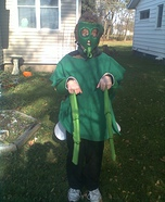 Homemade Preying Mantis costume