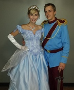Prince Charming and Cinderella Homemade Costume