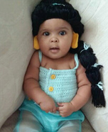 Princess Jasmine Baby Homemade Costume