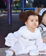 Princess Leia Baby Halloween Costume