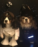 Princess Leia and Darth Vader Dogs Costume