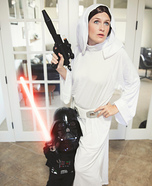 Princess Leia and Little Darth Vader Homemade Costume