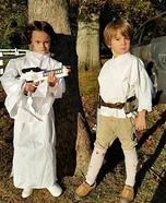 Princess Leia and Luke Skywalker Homemade Costume