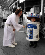 Homemade R2D2 and Princess Leia Costumes